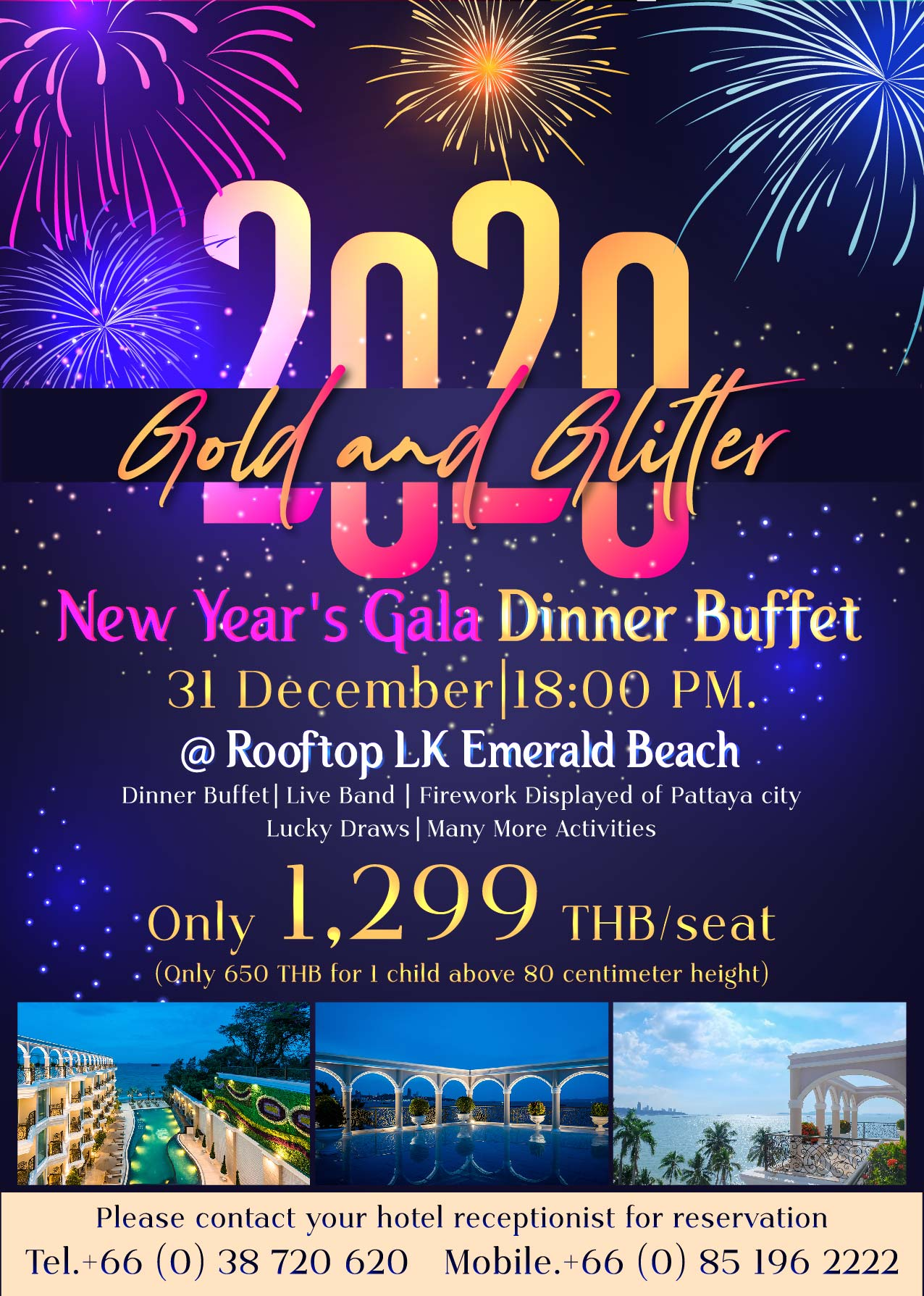 Package New Year's Eve at LK Emerald Beach